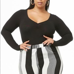 Forever 21 + Black ribbed bodysuit size 3x NWT